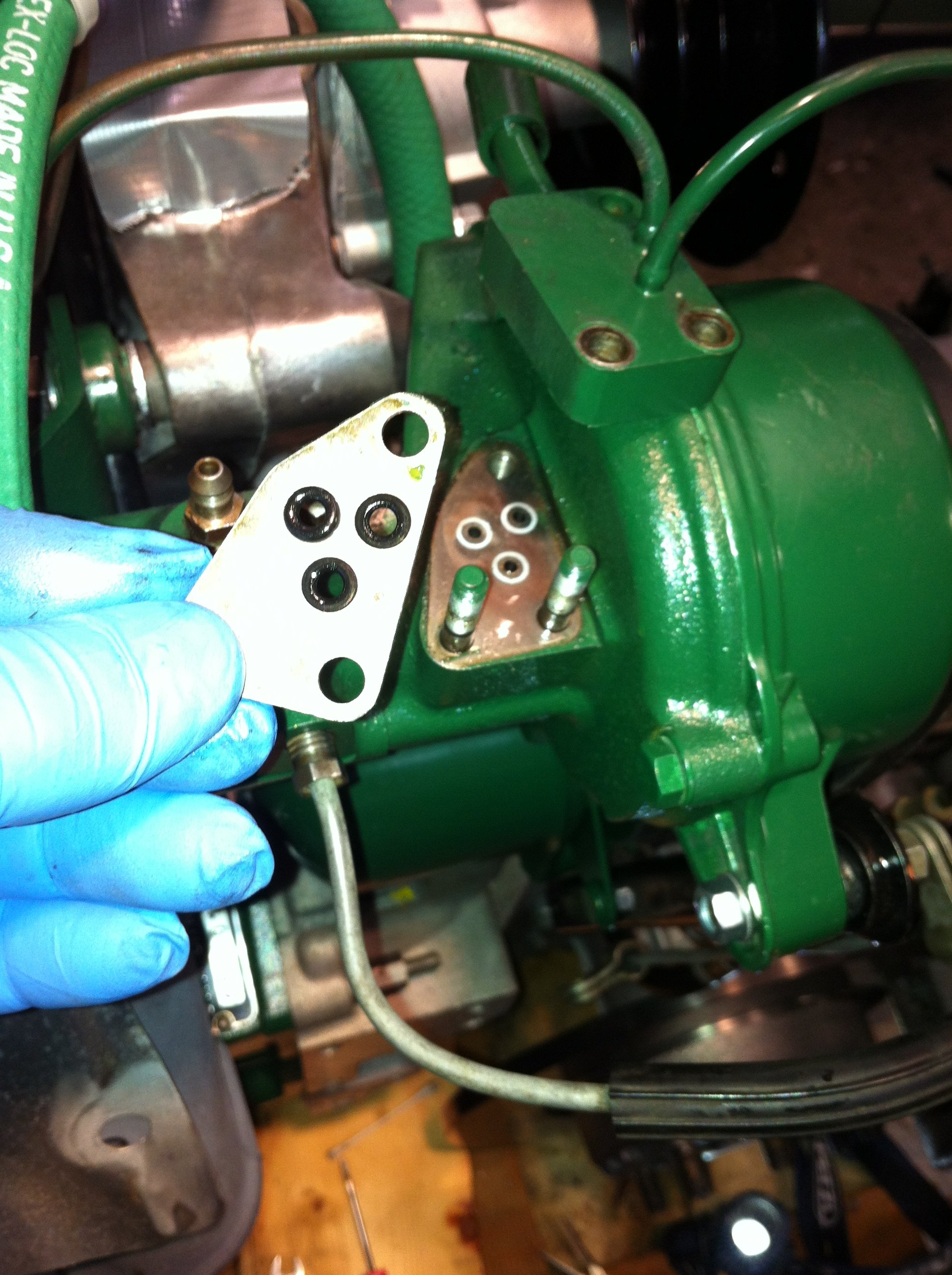 The o-rings in the hydraulic system are all old and hard