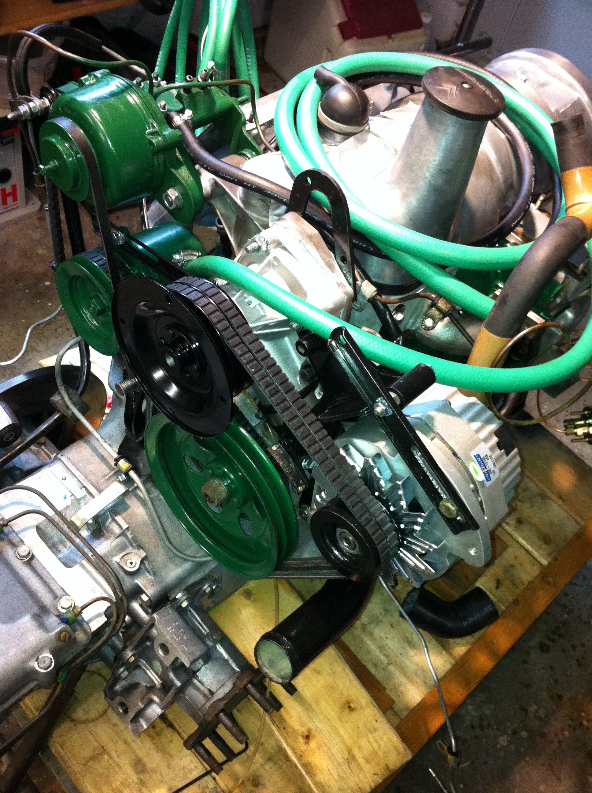 Belts going on, new alternator