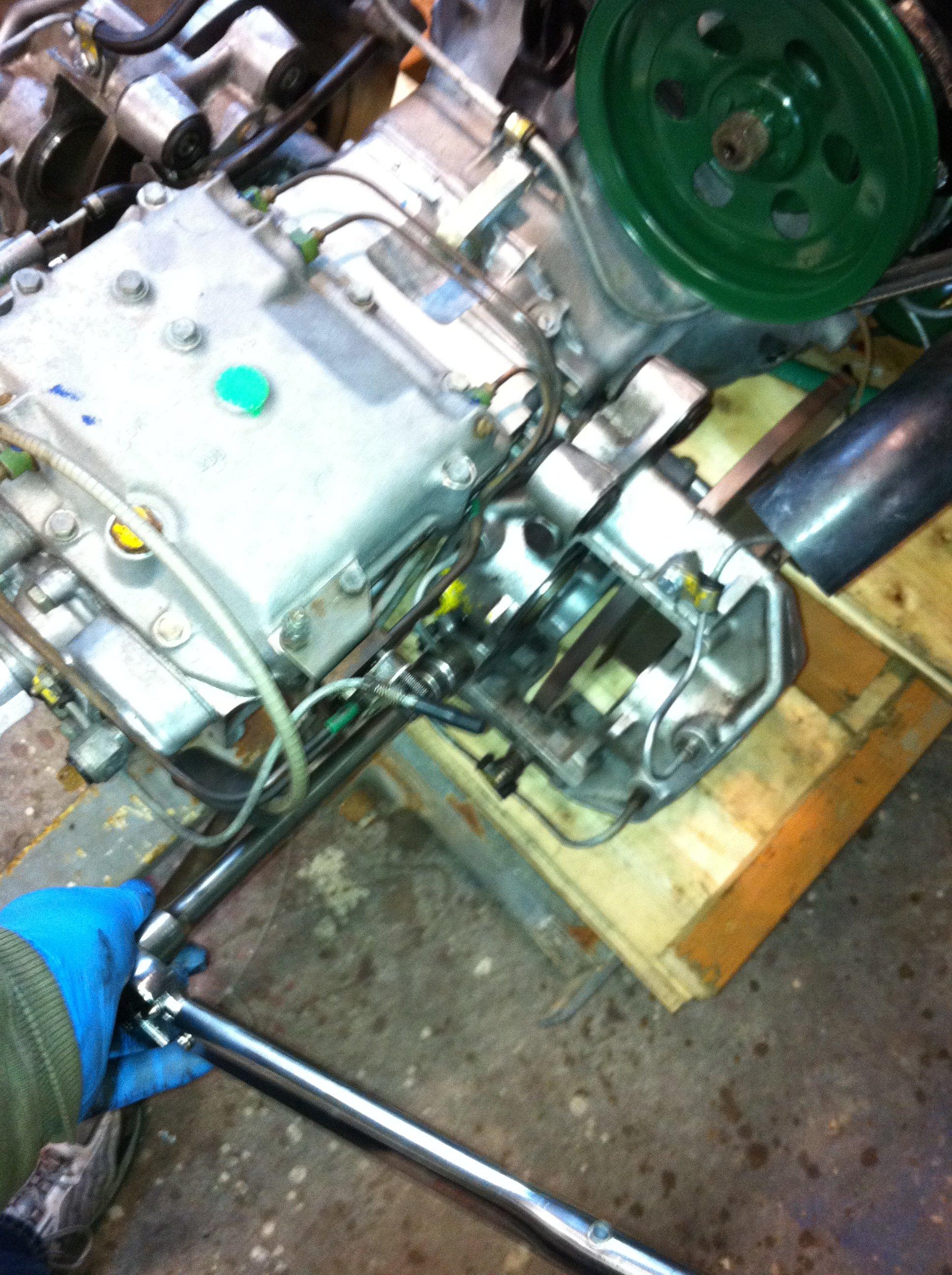 Torquing the brake attach bolts