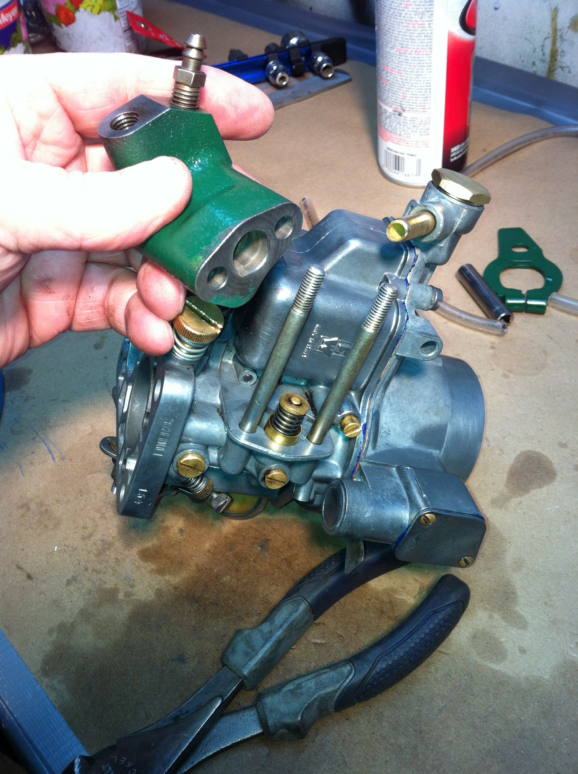Some help from Steve Hammond was key in understanding and assembling the idling valve body onto the carburetor