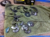 Lots of parts zinc plated and ready for polishing