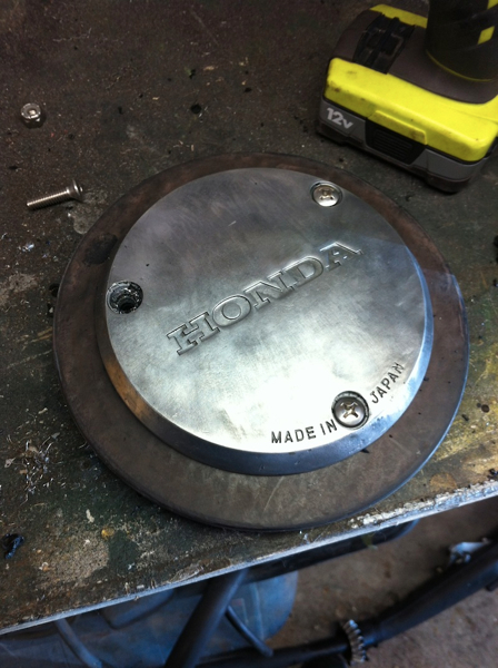 I need to sand and polish the stator cover, it\'s pretty corroded and pitted