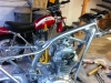 I start to assemble the blue bike