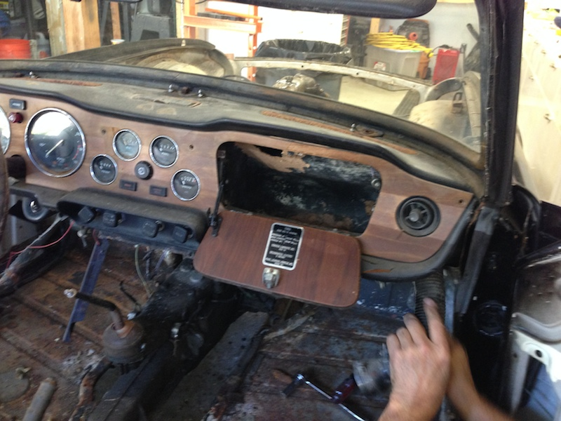 Tr6 Dashboard And Instruments Restoration Jimphoenixcom