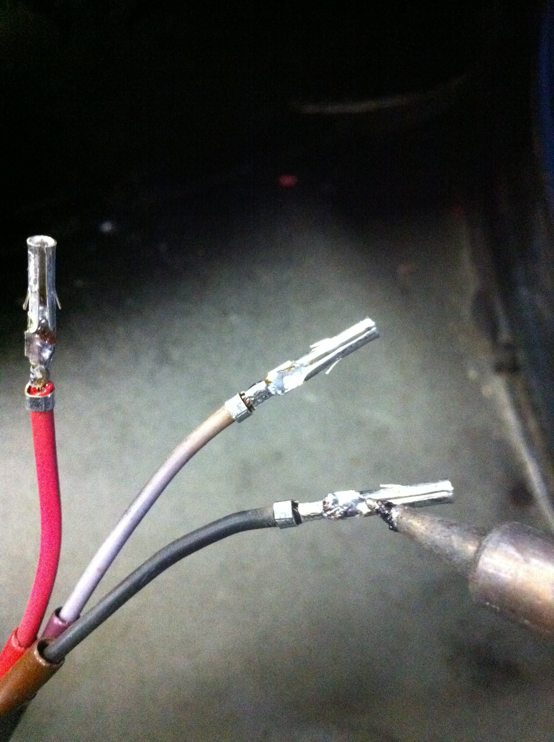 Soldering the connector