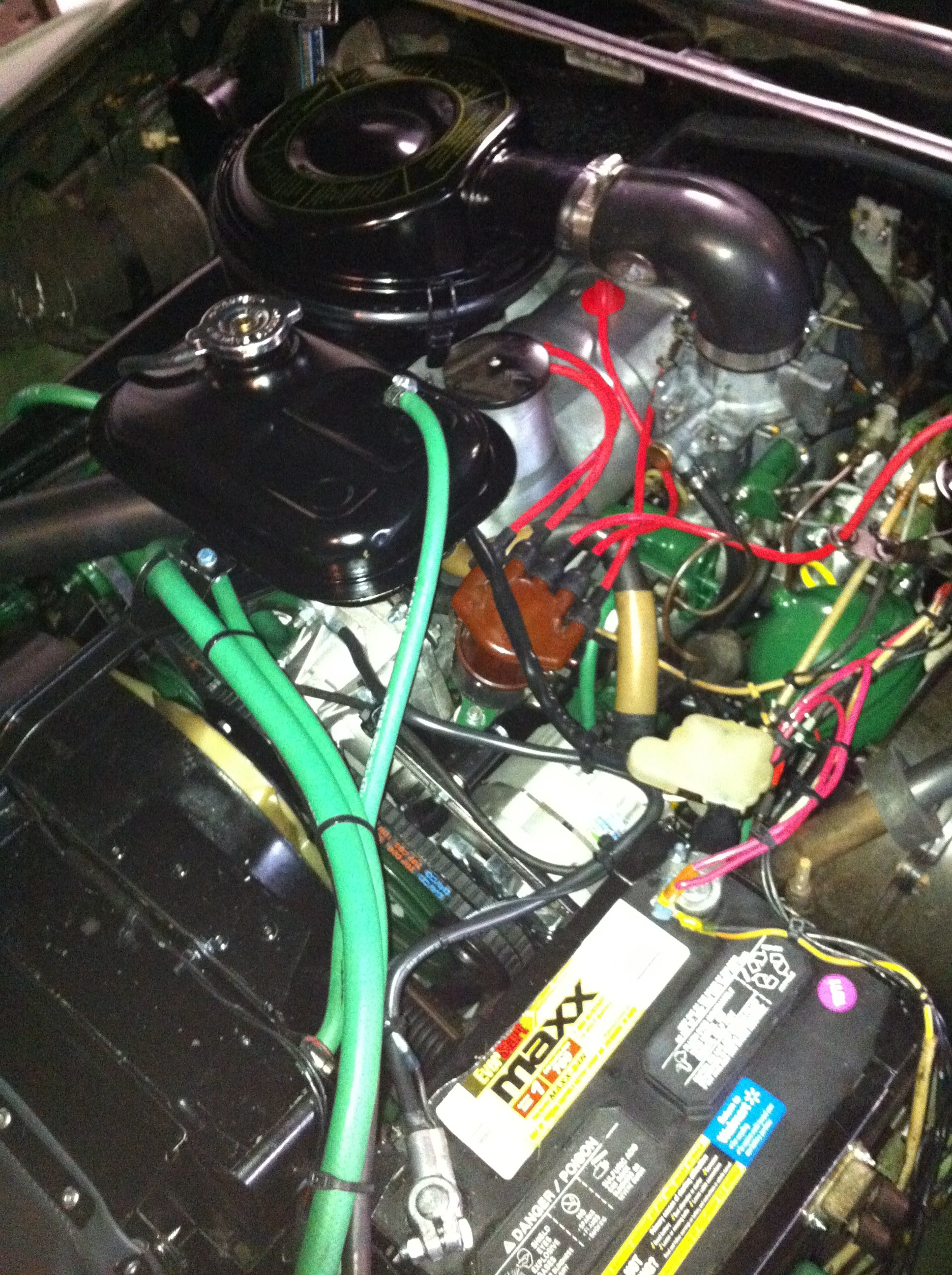All of the bits go back in the engine, air cleaner goes in after hot valve adjustment