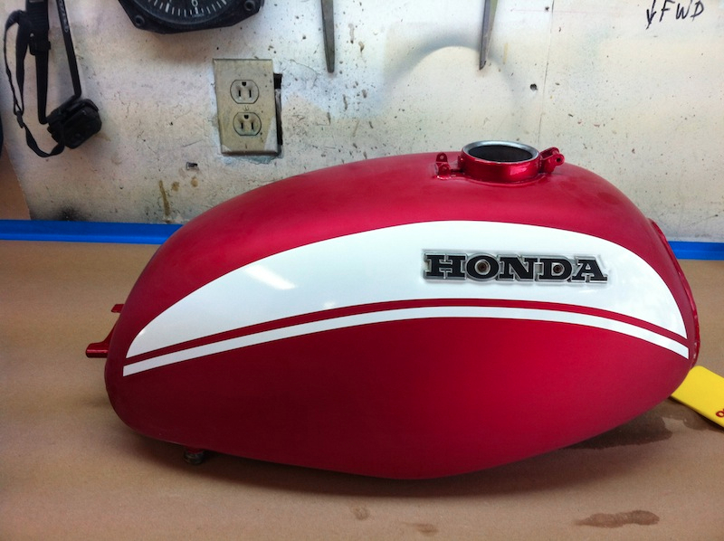 Checking decal position and alignment with the Honda logo