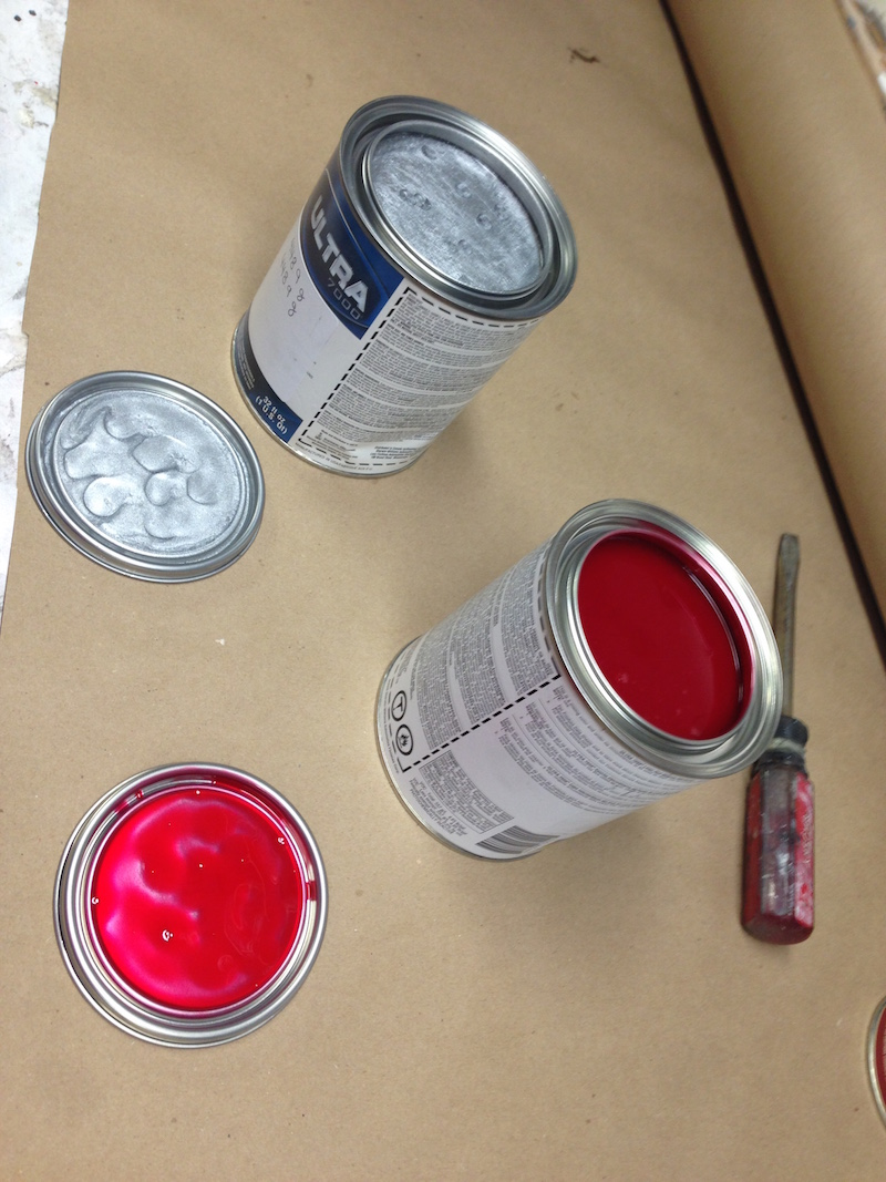 Sister katwoman specified Sherwin Williams Candy Apple Laser Red