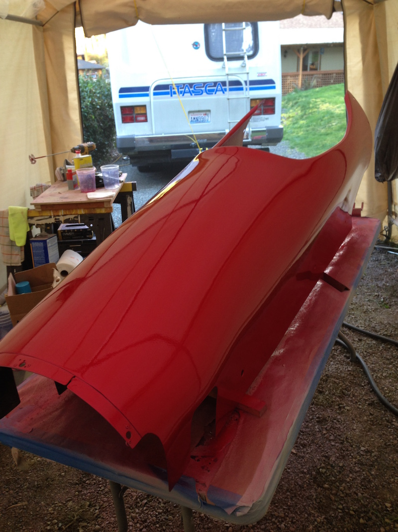 Then a full quart (four coats) of clear over the red midcoat