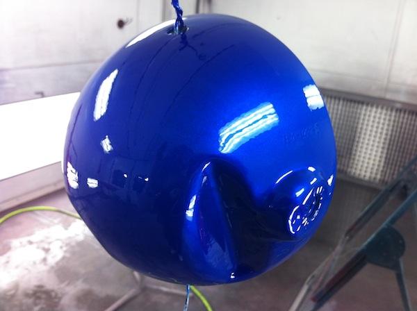Headlight bucket in blue