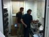 Pat and his son (my nephew) Josh Clarkin discuss which wash primer to use on the bare metal tank