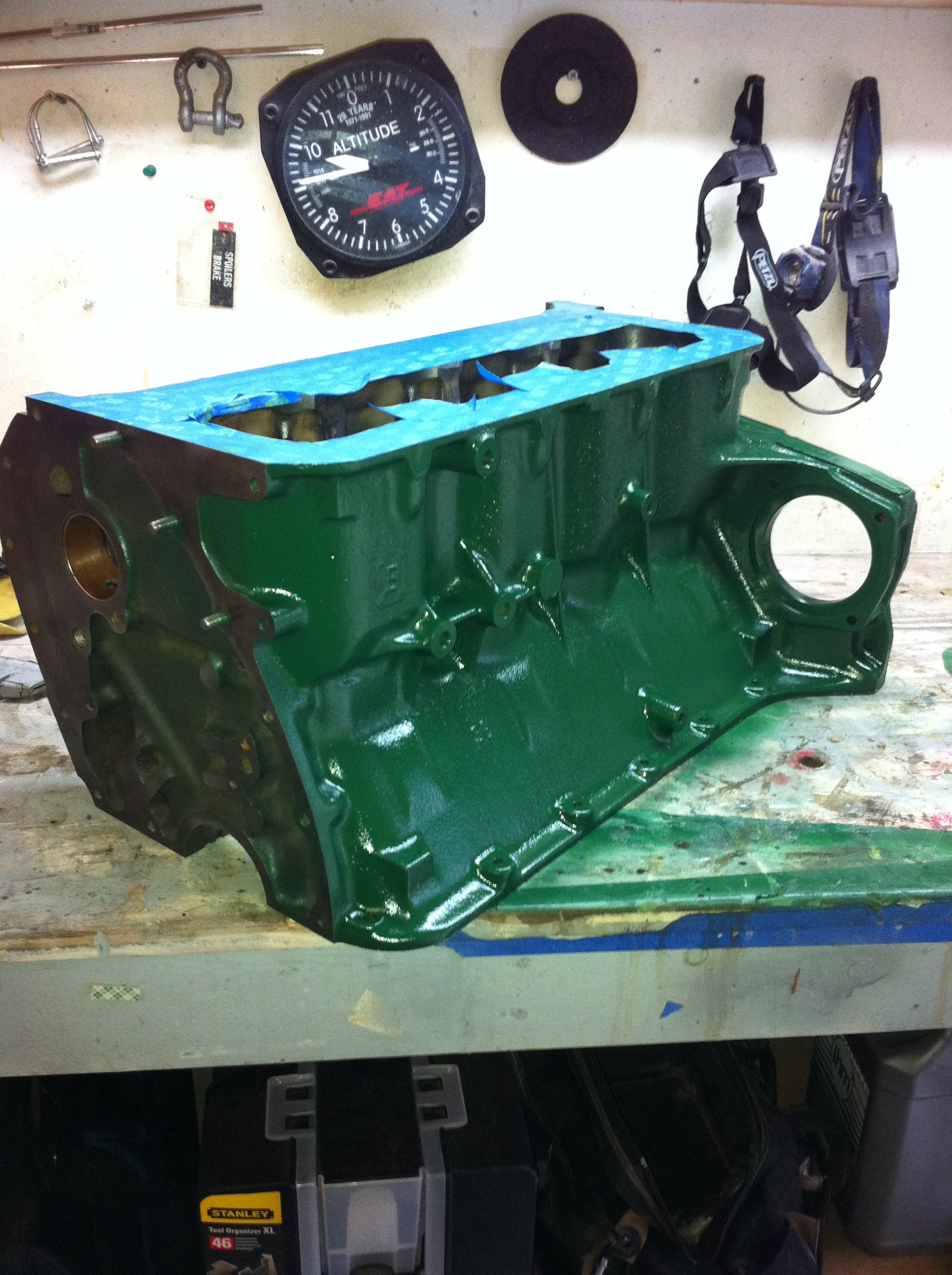 Block cleaned and painted