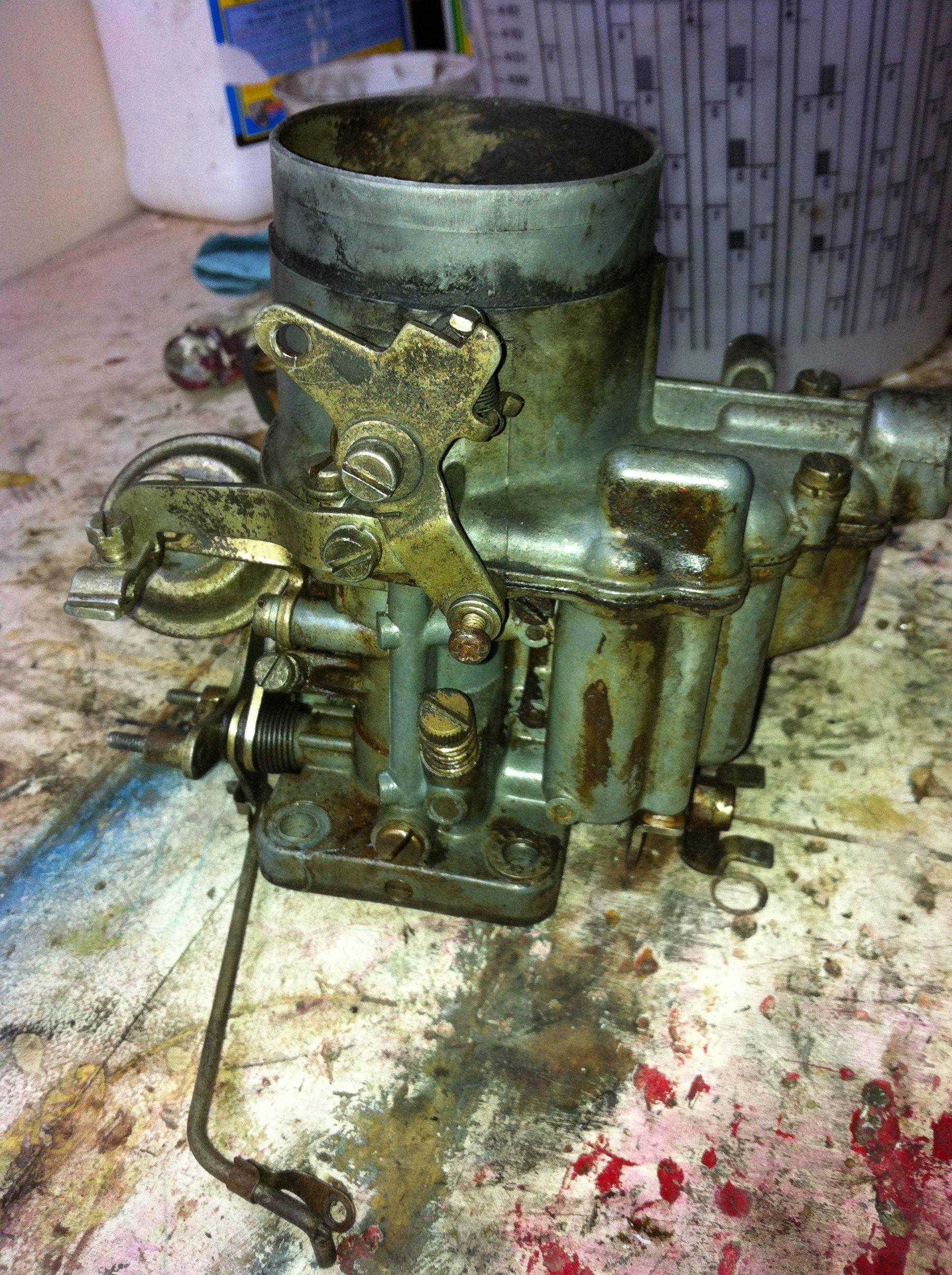 Weber carburetor is disassembled for cleaning