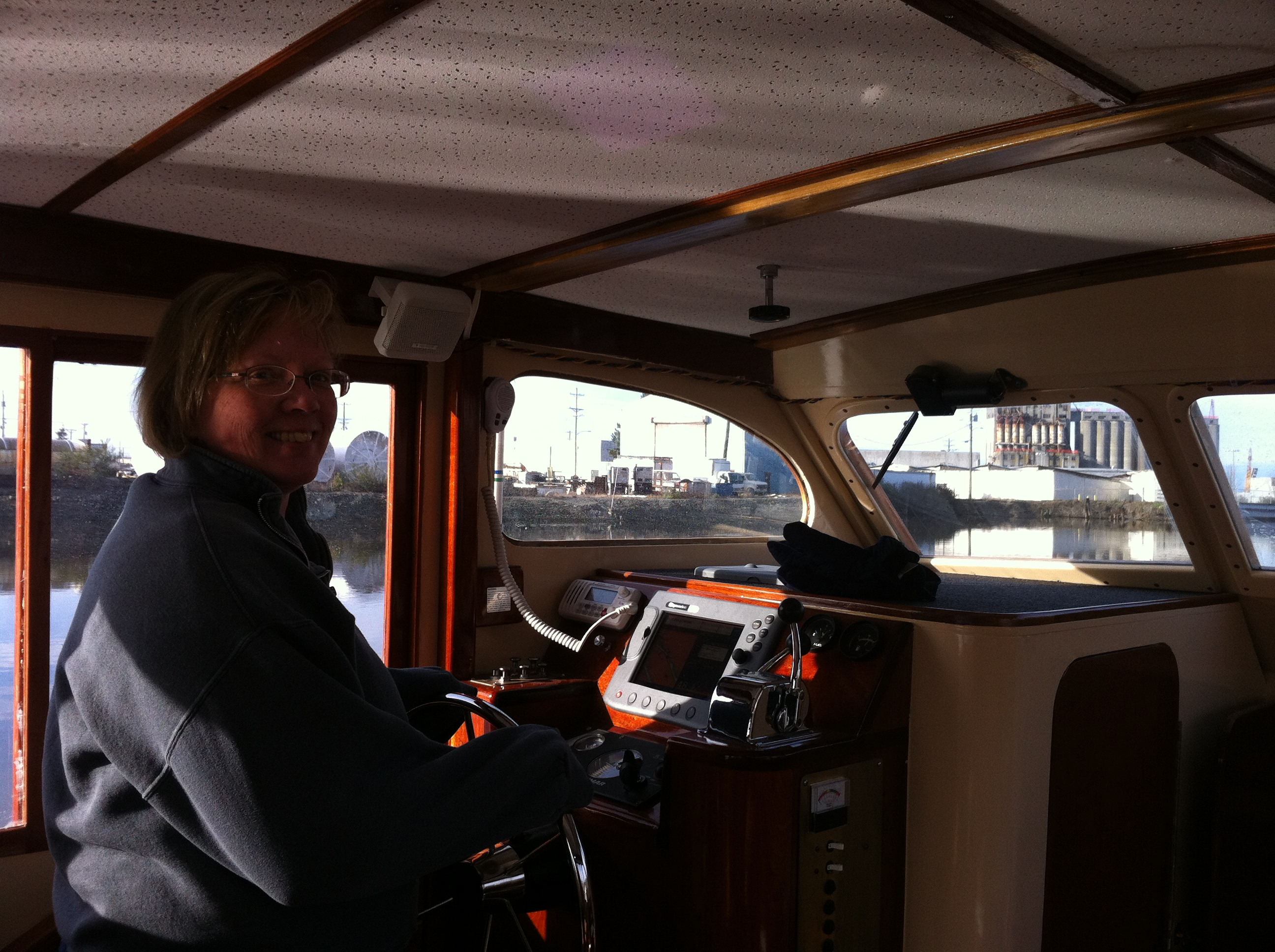 Renee takes us out of the harbor and into the bay