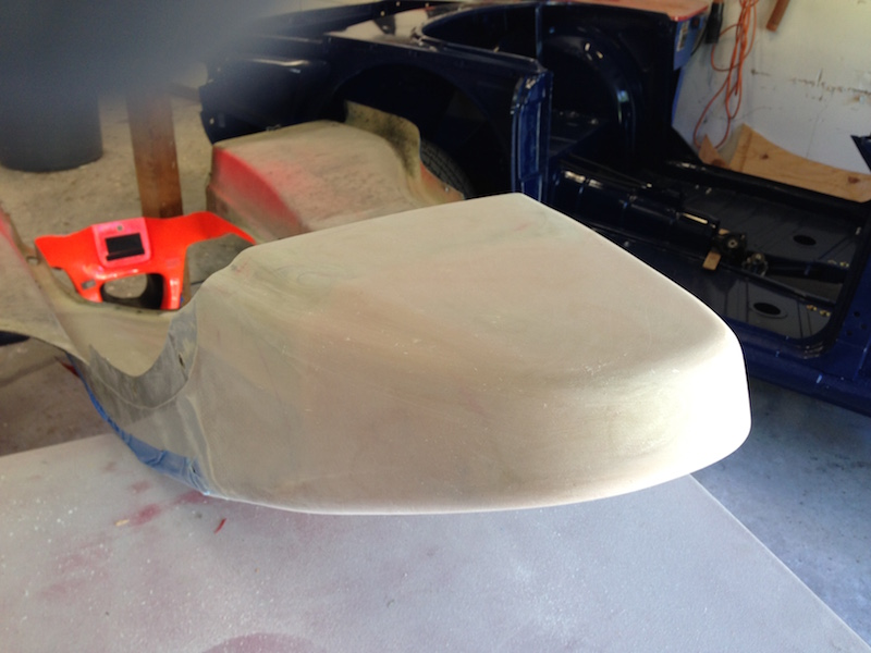 I use fiberglass filler to get out the shape of the nose