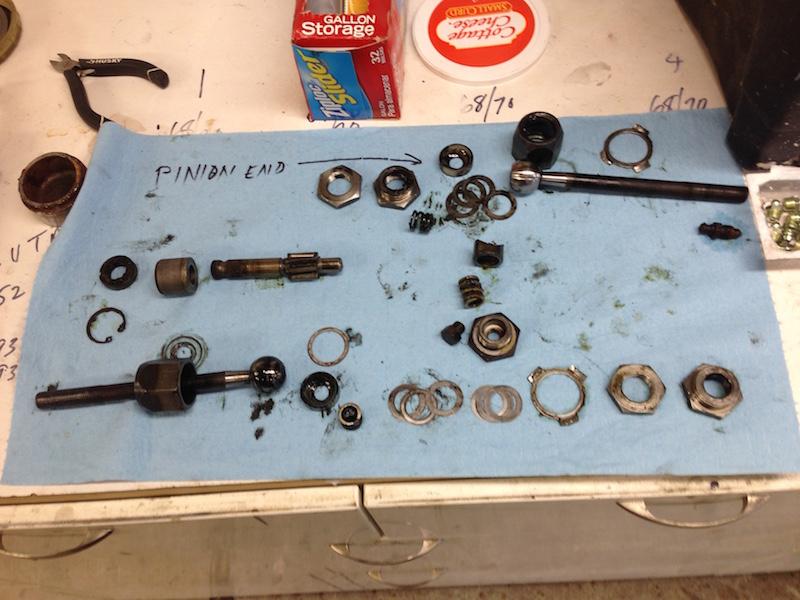 Steering rack bits cleaned up.