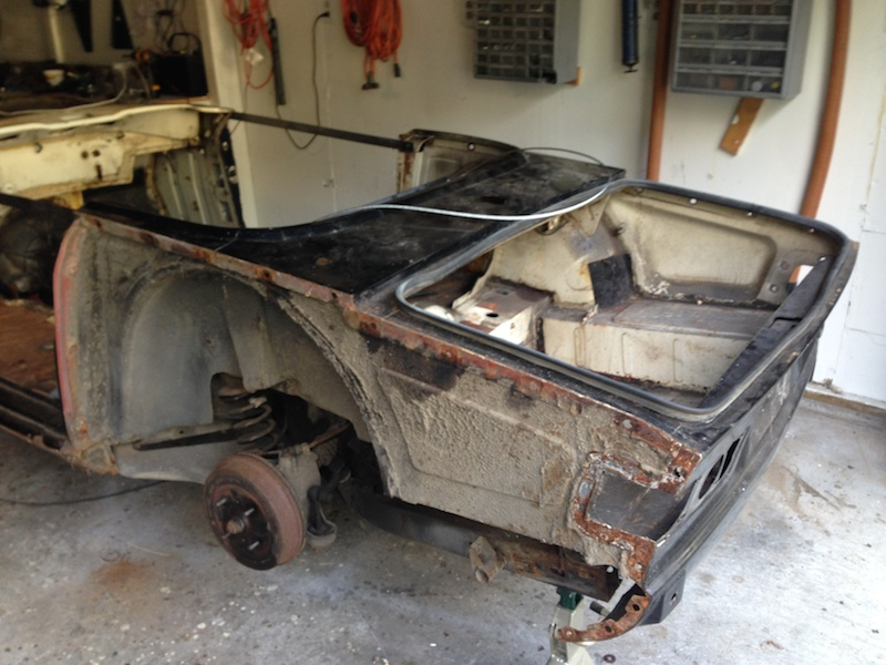 The battery tray is rusted and the door sills are bad, plus the floors are bad - but not rusted through.