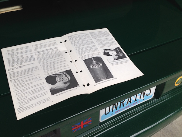 In the bluebox resides an instruction manual on rebuilding the Bendix AD2 Air Dryer