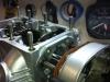 Installing the left cam bearing box.