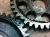I found a replacement kick start idler gear for the red bike to replace the one with the chipped tooth