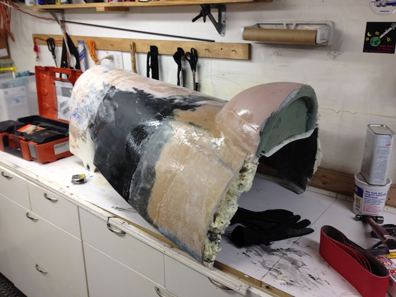 The finish the tail section