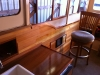 New interior including all floorboards, cedar ceiling, new galley with real ceramic sink and propane range with auto shutoff safety control system with sniffer in bilge.